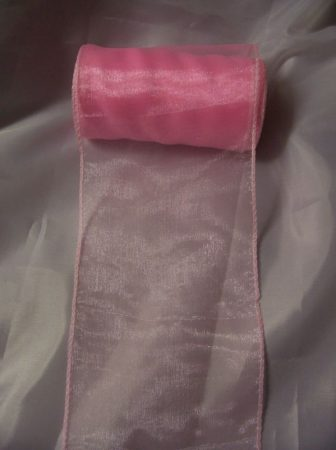 rózsaszín 11 cm * 10 m organza