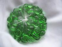 zöld dekorkő,dekorkavics fényes(kb.100 db-os), 2 cm