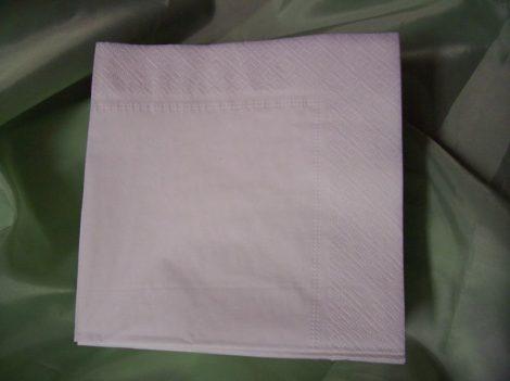 33*33 szalvéta (60 db/cs) fehér, 2 rétegű