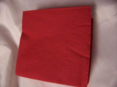33*33 szalvéta (50 db/cs) piros