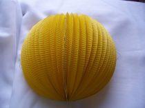 22 cm-es papír lampion gömb sárga