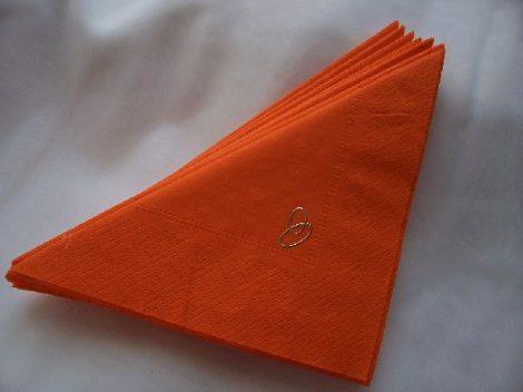 gyűrűs szalvéta narancs (50 db/cs)