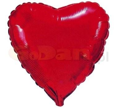 szív fólia lufi piros (45cm)