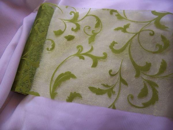 zöld(moha) inda mintás organza (47 cm   5 m) - esküvő dekoráció ... 351d212250