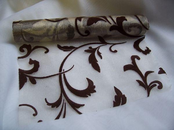 inda mintás krém alapon csoki organza (24 cm   5 m) - esküvő ... f45fb78851
