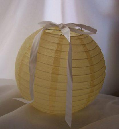 lampion gömb 40 cm-es (krém) szalag nélkül