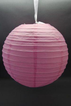 lampion gömb 40 cm-es (rózsaszín) szalag nélkül