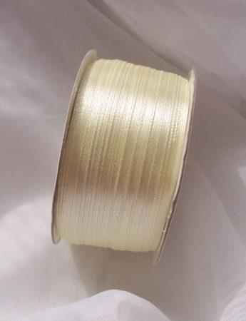 0,3 cm szatén szalag krém ( 50 m)