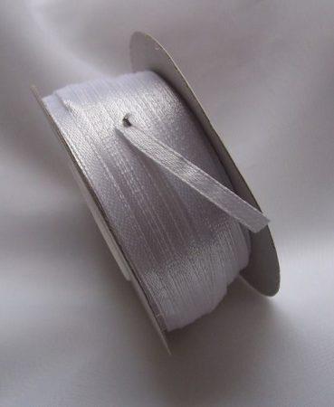 0,3 cm szatén szalag fehér (50 m)