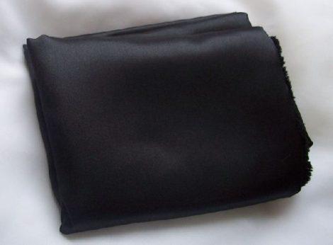 fekete szaténselyem ( 1,5 m széles)