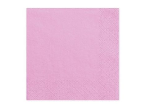 33*33 szalvéta, 3 rétegű (20 db/cs) rózsaszín-081