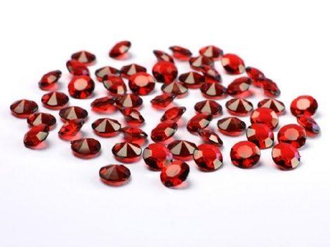 gyémánt dekorkő sötétpiros (100 db)