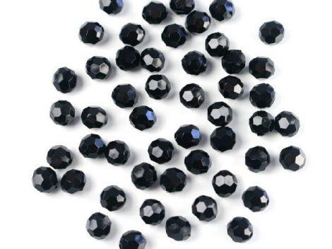 gyöngy 1 cm-es fekete (50 db)
