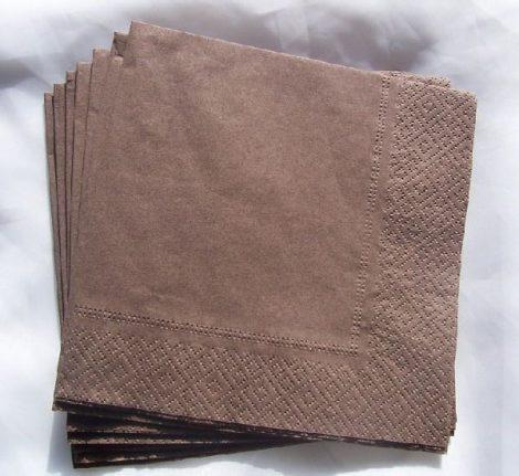 33*33 szalvéta (50 db/cs) barna, 2 rétegű