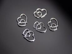 Ezüst szívpár 25 db (1 cm-es)