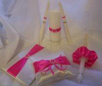 Pink szettből -esküvői vendégkönyv (A/5, belül sima, 70 lapos)