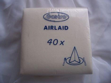 Textil hatású, fehér szalvéta (40*40) -50 db