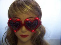 Szív szemüveg világítós