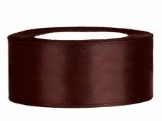 2,5 cm-s szatén szalag (23 m) kávébarna