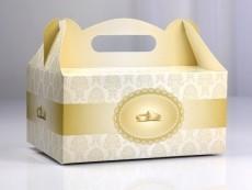 sütis doboz 19x14x9 cm arany, karikagyűrűs