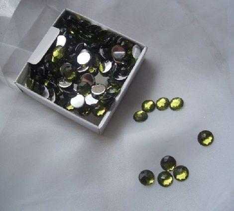 tükrös gyémánt dekorkő olivazöld (100 db)