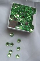 tükrös gyémánt dekorkő világoszöld (100 db)