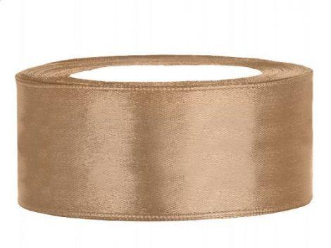 2,5 cm-s szatén szalag (25 m) arany