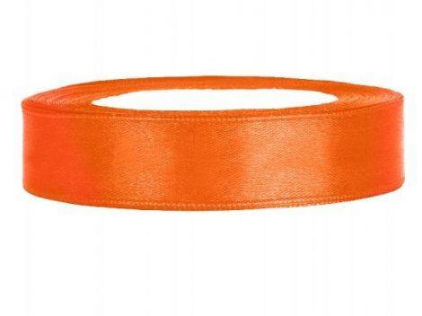 1,2 cm-s szatén szalag (23 m) narancs