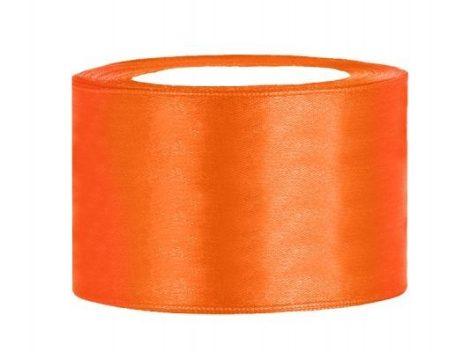 3,8 cm-s szatén szalag (25 m) narancs
