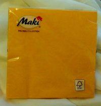 33*33 szalvéta, 3 rétegű (20 db/cs) pasztel sárga