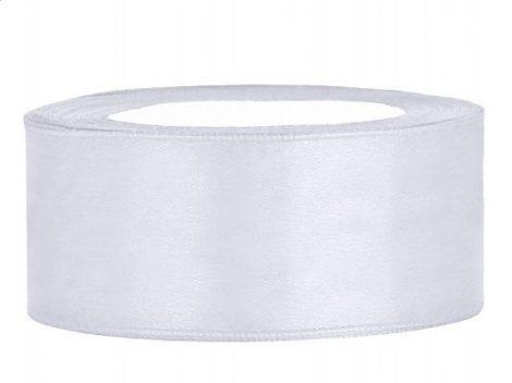 2,5 cm-s szatén szalag (25 m) fehér