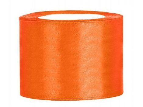 5 cm-s szatén szalag (25 m) narancs