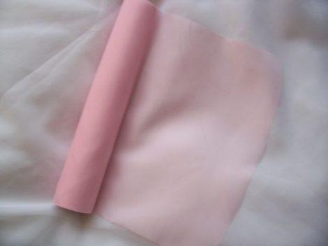 Selyem dekoranyag asztali futó rózsaszín (25 cm * 10 m)