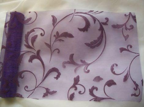 inda mintás s.lila organza (24 cm * 5 m)