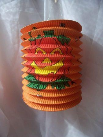 Halloween henger lampion narancs (20 cm)