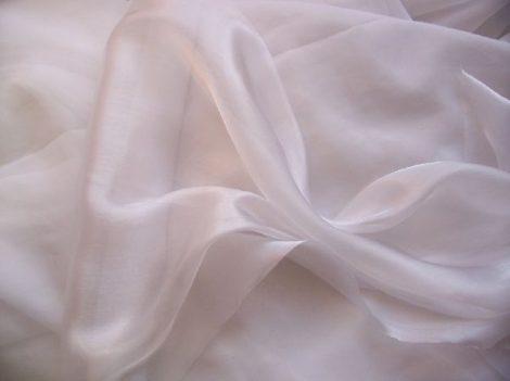 Szatén-organza (142 cm * 10 m) fehér