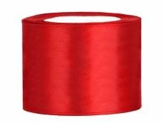 5 cm-s szatén szalag piros (25 m)