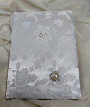 krém rózsás esküvői vendégkönyv, (A/5, sima, 70 lapos)