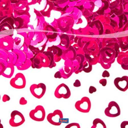 szív konfetti pink (14 gr)