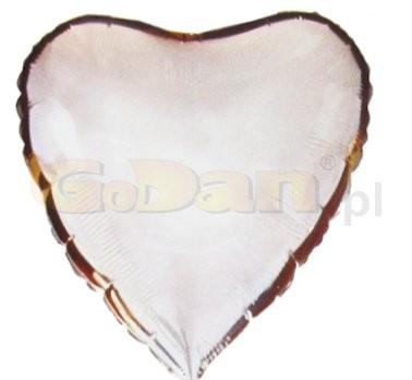 ezüst, szív alakú fólia lufi (45 cm)