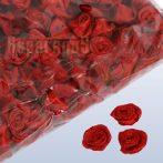 szatén rózsafej 1,2 cm, bordó (100 db)
