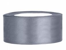 2,5 cm-s szatén szalag (25 m) ezüst (091)