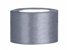 3,8 cm-s szatén szalag (25 m) ezüst (091)