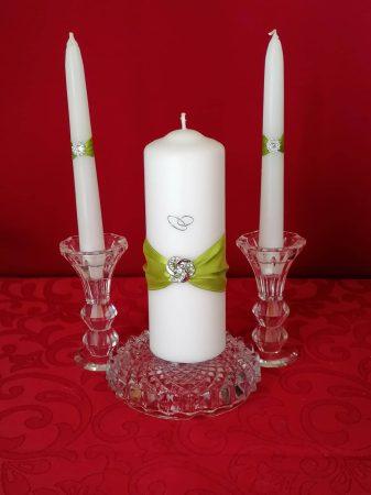 Zöld, 3 részes gyertyaszett