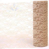 Csipke dekoanyag homokszín 25 cm * 9 m