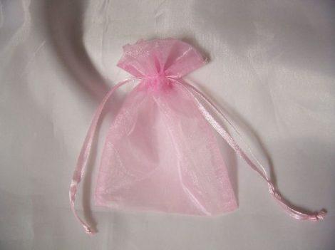 organza tasak 6*10 cm rózsaszín (20 db)