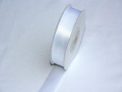 Szatén szalag fehér (HS-1001)-(0,6 cm * 22 m)