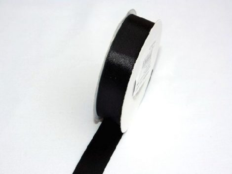 Szatén szalag fekete-(0,6 cm * 25 m)