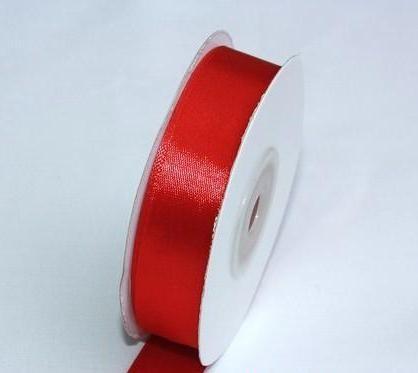Szatén szalag piros (HS-1026)-(0,6 cm * 22 m)