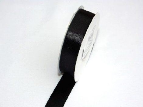szatén szalag fekete (HS-045)-(2 cm * 22 m)